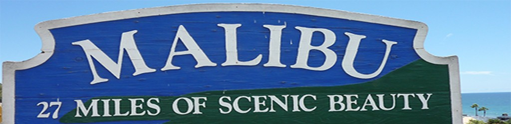 Iconic City of Malibu Sign