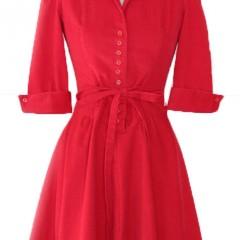 vintage red corduroy dress | Malibu Vintage Goods