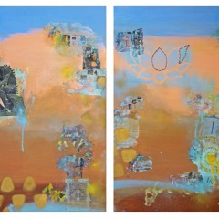 The Thinker | 2pc Mixed Media Canvas Set_crop | Maya Armony | All Things Malibu