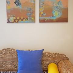 The Thinker | 2pc Mixed Media Canvas Set | Maya Armony | All Things Malibu