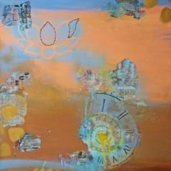 The Thinker | 2pc Mixed Media Canvas Set_right | Maya Armony | All Things Malibu