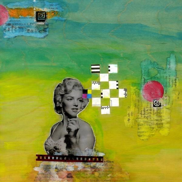 Maya Armony | Darling Marilyn | Mixed Media Collage | All Things Malibu