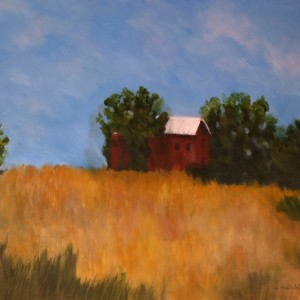 Barn on a hill | oil painting | All Things Malibu