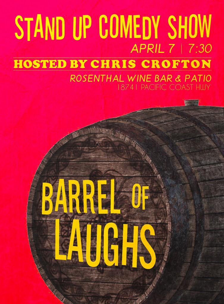 Chris Crofton Barrel Of Laughs Poster 4