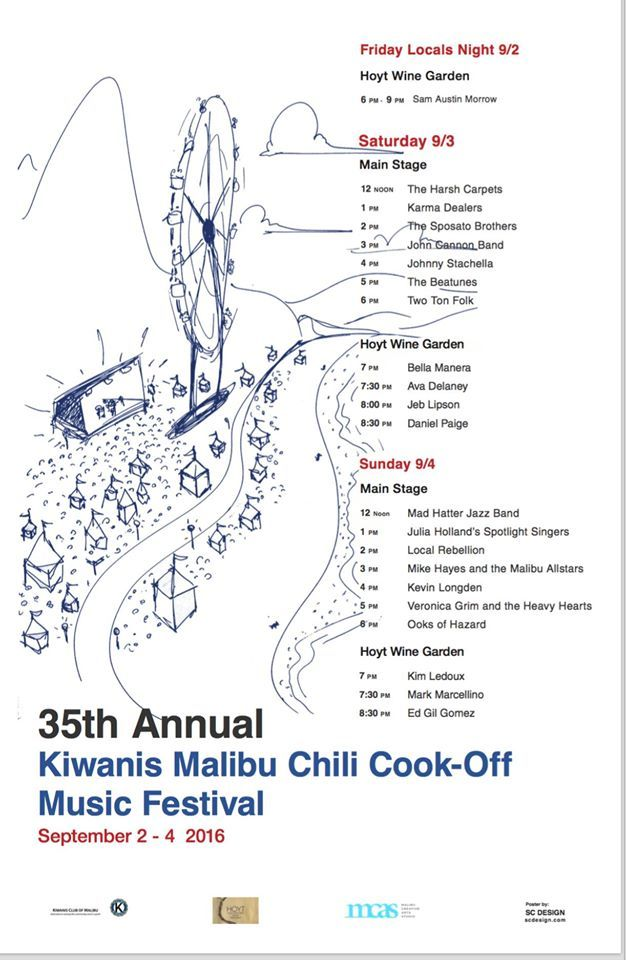 chili cook off music schedule