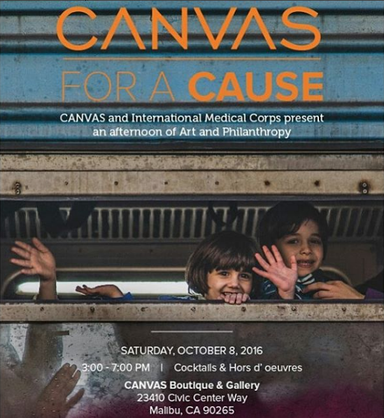 canvas for a cause flyer