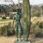 legacy park surfer statue